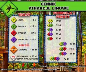 Krynicki Park Linowy - cennik