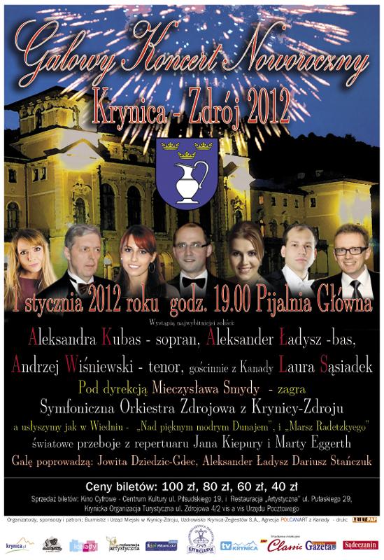 Galowy Koncert Noworoczny w Krynicy