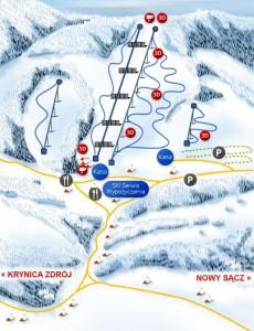 trasy narciarskie na Słotwinach w Krynicy