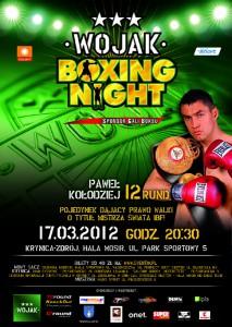 Plakat Wojak Boxing Night w Krynicy-Zdrój