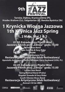 Wiosna Jazzowa w Krynicy-Zdrój - plakat