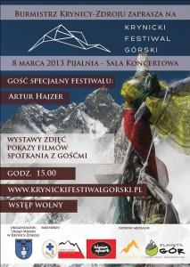 Krynicki Festiwal Górski - plakat