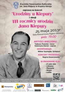 Spektakl Urodziny u Kiepury - plakat
