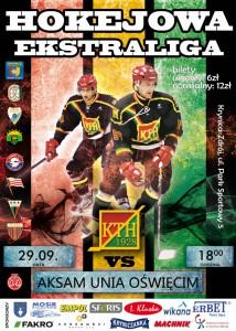 mecz hokejowy KTH z Unią Oswięcim - plakat