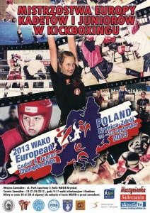 Mistrzostwa Europy Kadetów i Juniorów w Kickboxingu - plakat