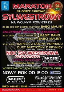 Sylwester 2013/2014 na Górze Parkowej w Krynicy - plakat
