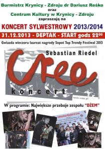 Sylwester 2013/2014 na Deptaku w Krynicy - plakat