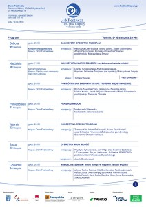 Program 48 Festiwalu Kiepury - część 1 - plakat