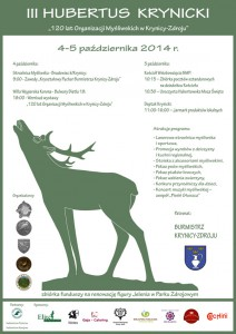 III Hubertus Krynicki - plakat