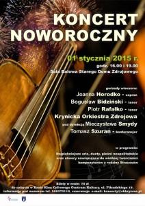 Galowy Koncert Noworoczny w Krynicy - plakat
