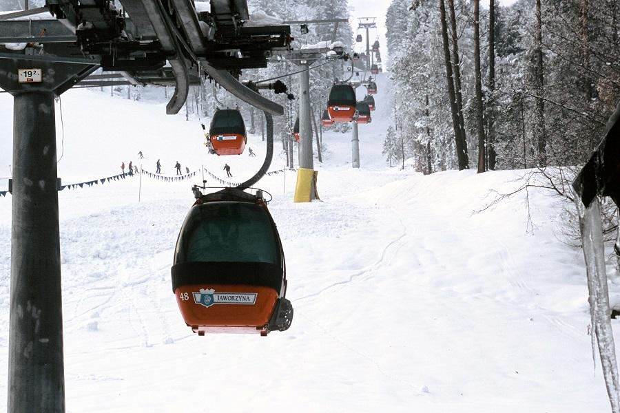 Gondola na Jaworzyne w zimie