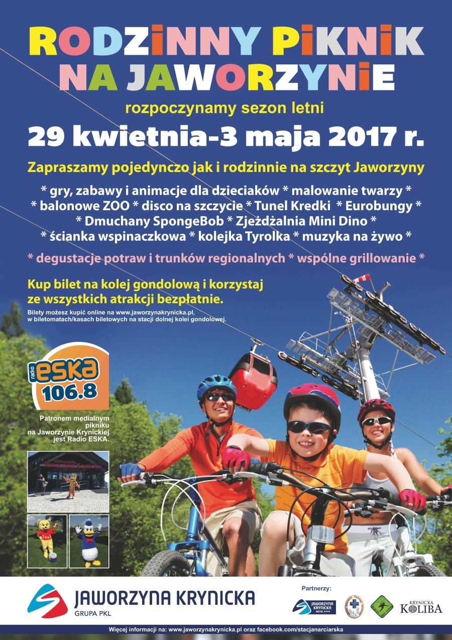 Majówka 2017 na Jaworzynie Krynickiej - plakat