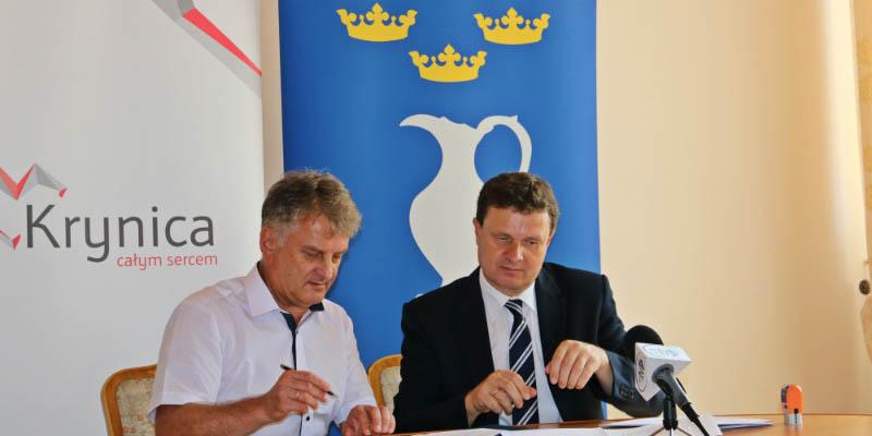 Aquapark w Krynicy - podpisanie umowy