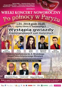 Wielki Koncert Noworoczny w Krynicy Zdroju - plakat