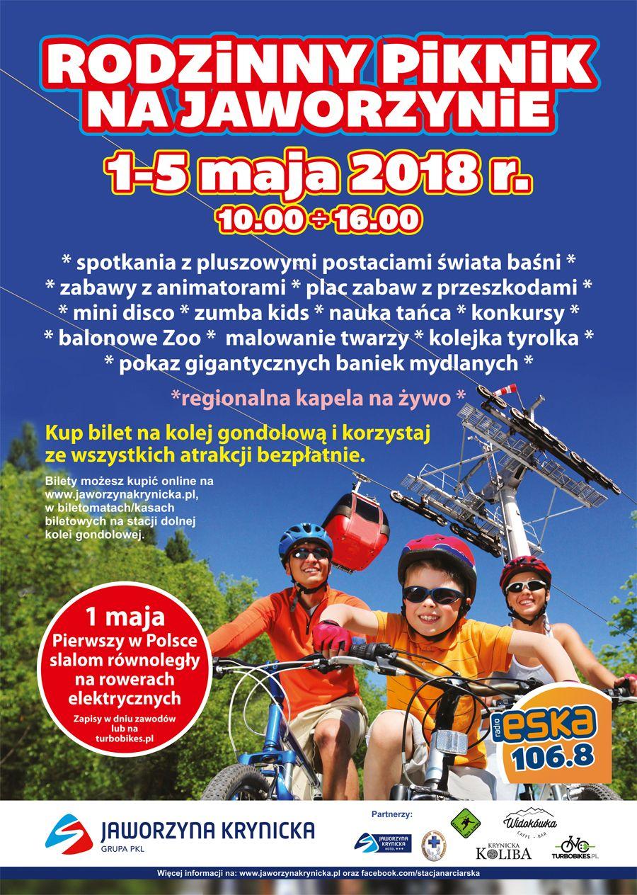 Rodzinny Piknik Majowy na Jaworzynie - plakat