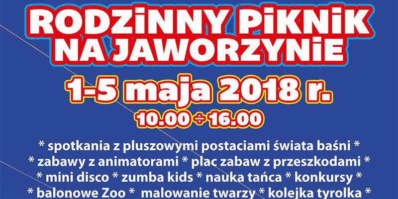 Rodzinny Piknik Majowy 2018 na Jaworzynie - zdjęcie wstępu