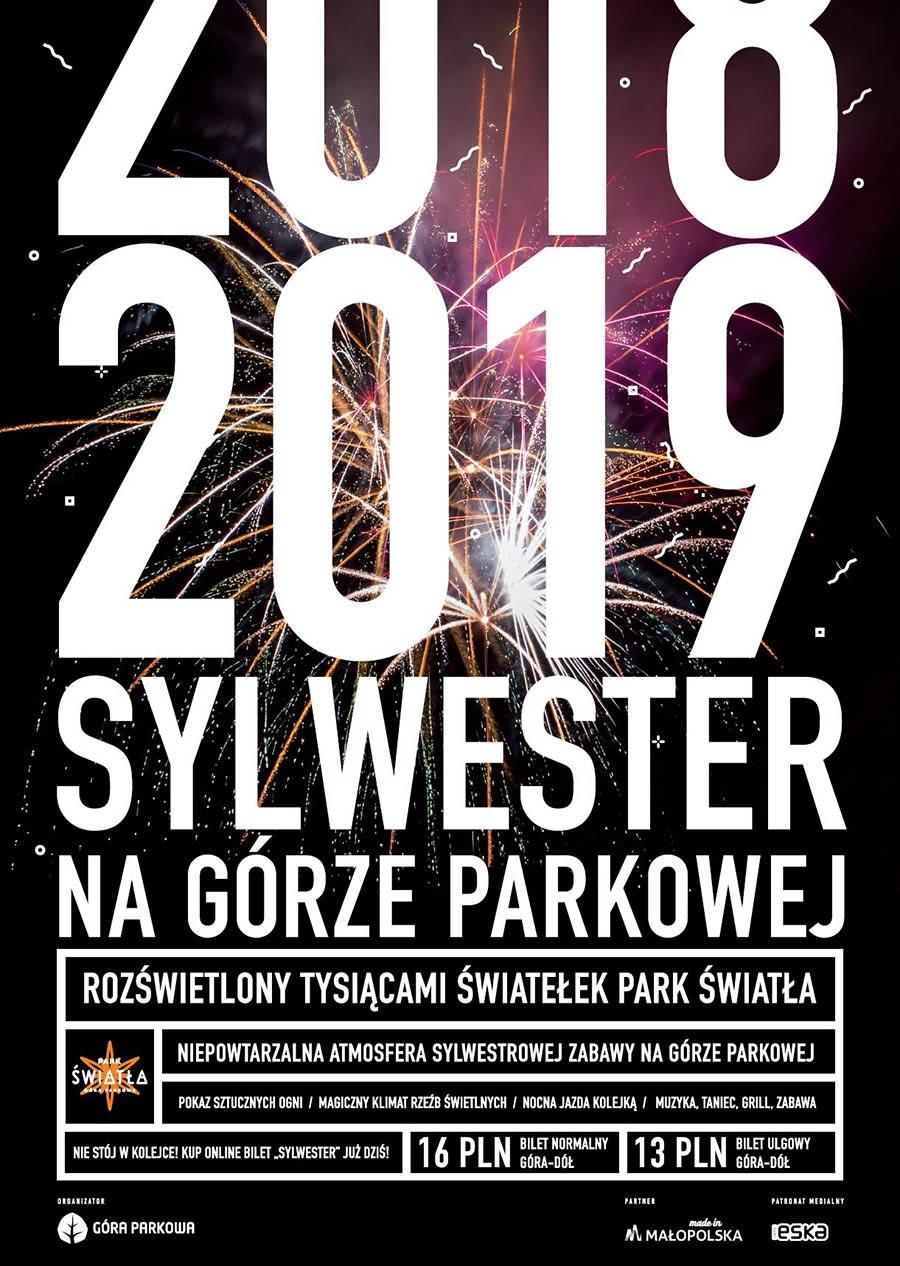 Sylwester 2018/2019 na Górze Parkowej w Krynicy-Zdroju - plakat