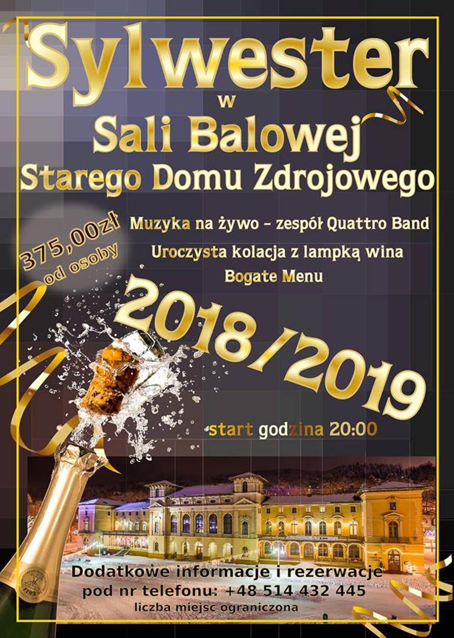 Sylwester 2018/2019 w Sali Balowej w Krynicy-Zdroju - plakat