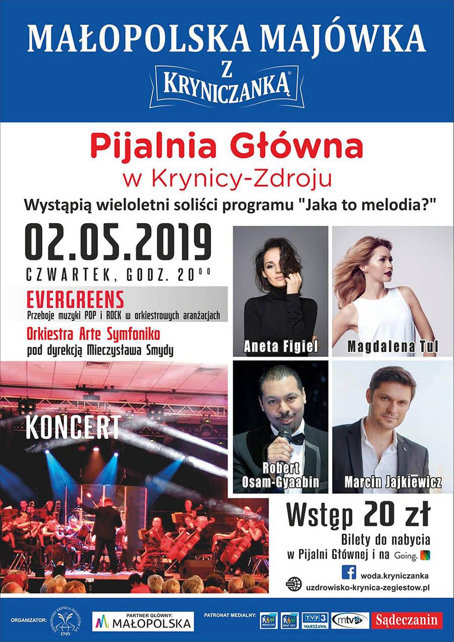 Małopolska Majówka z Kryniczanką - plakat z wydarzenia