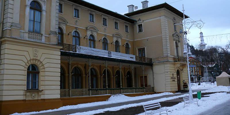Stary Dom Zdrojowy w Krynicy - zima