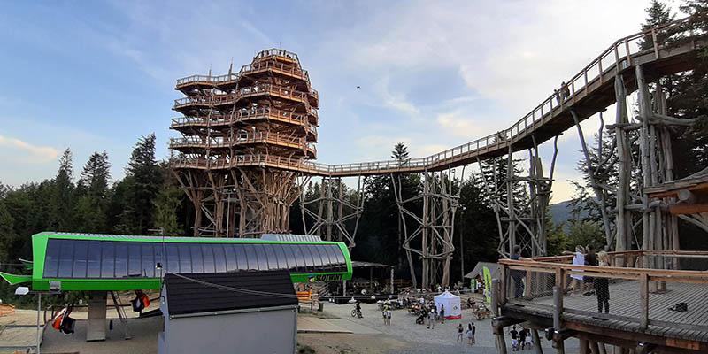 Wieża widokowa w Krynicy - góra