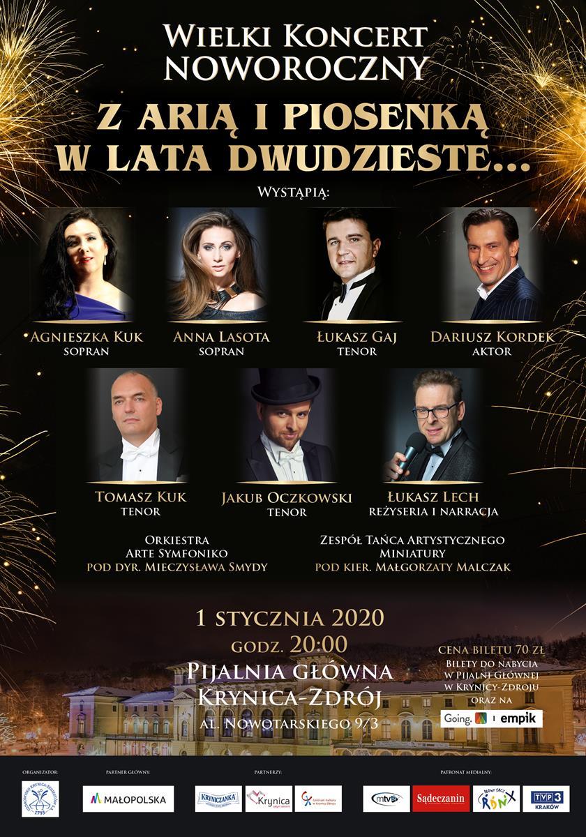 Koncert Noworoczny Z arią i piosenką w lata 20-te - plakat