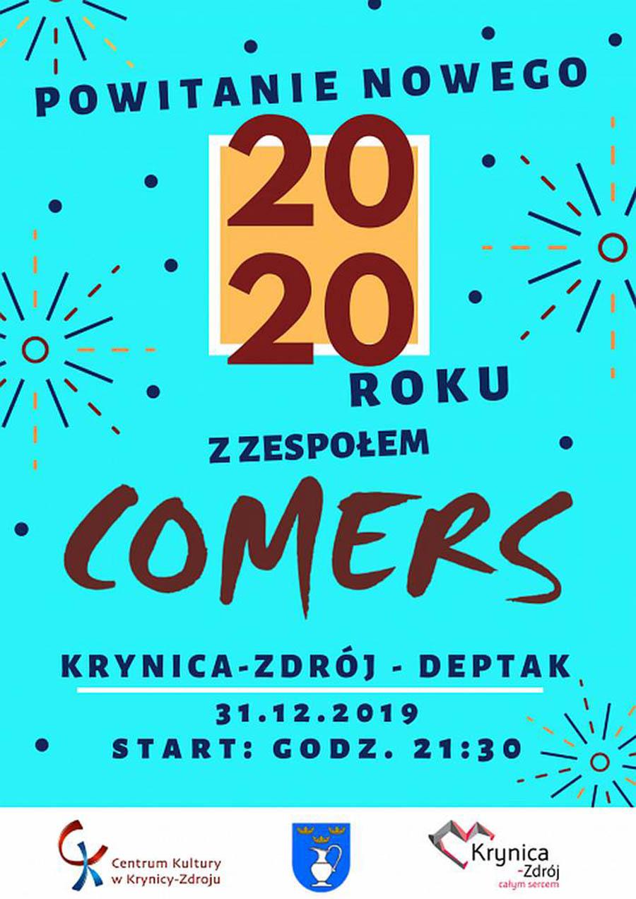 Sylwester 2019/2020 na Deptaku w Krynicy-Zdroju - plakat