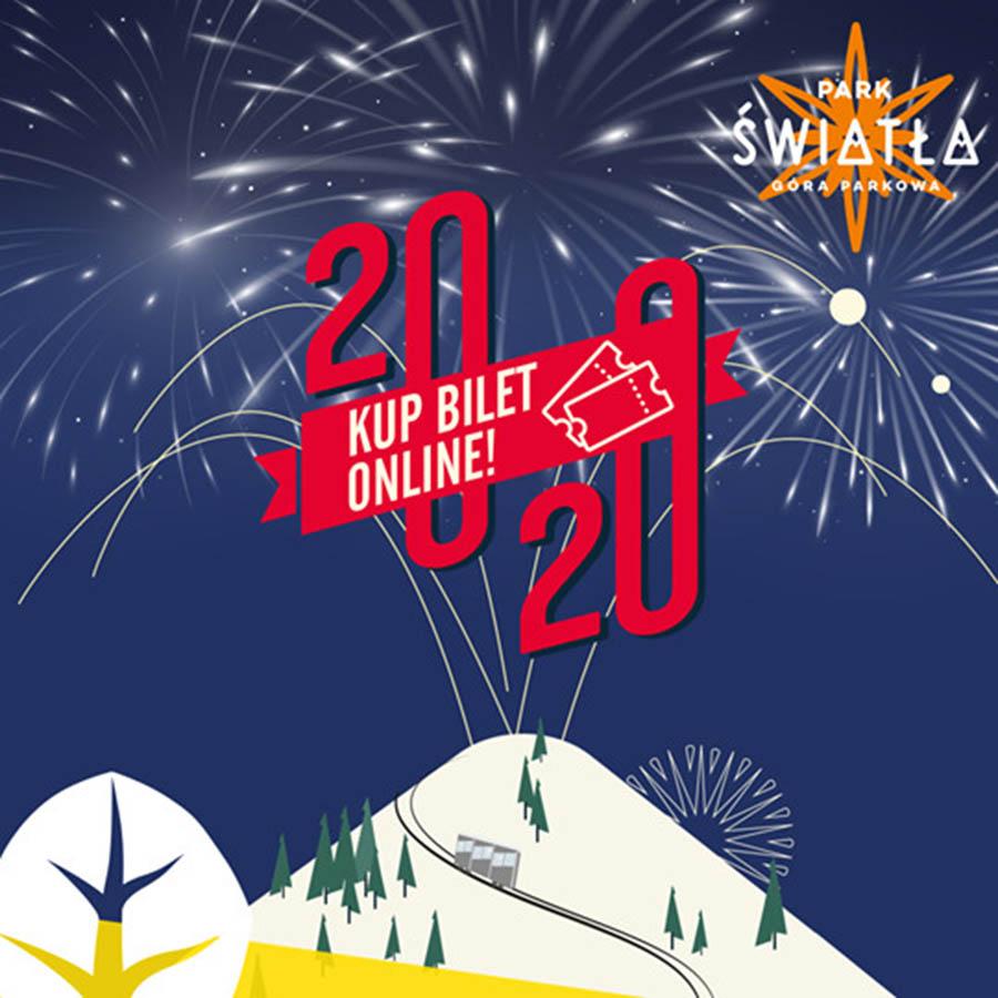 Sylwester 2019/2020 na Górze Parkowej w Krynicy-Zdroju - plakat