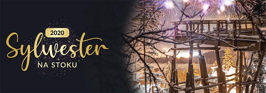 Sylwester 2019/2020 na stoku - Słotwiny Arena w Krynicy-Zdroju - plakat