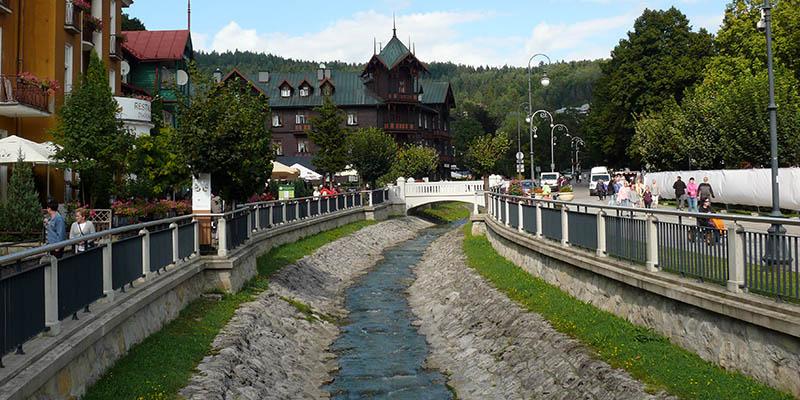 Krynica-Zdrój - okolice Deptaka w Krynicy